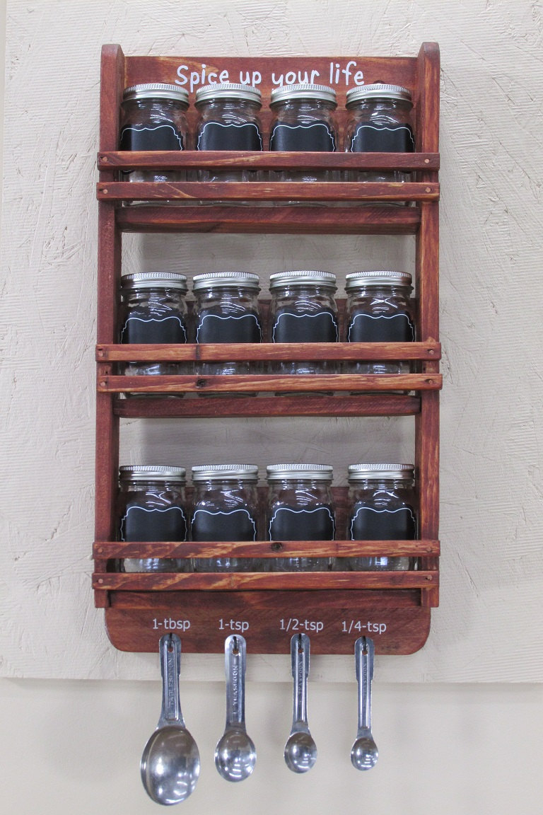 16 Practical Handmade Spice Rack Ideas That Will Help You