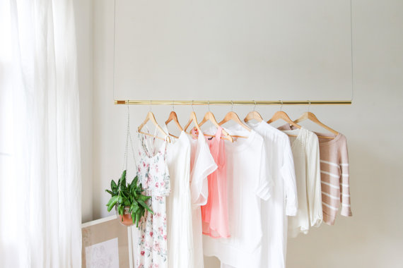 16 Unique Handmade Clothing Rack Designs To Display Your Clothes