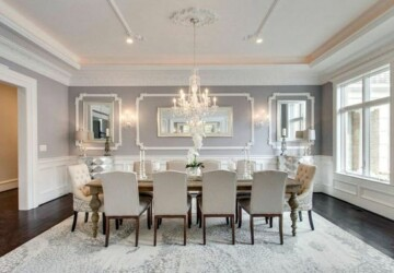 How to Create a Stylish Dining Room that's Perfect for Entertaining   - table, room, lighting, interior, dining room, dining, chairs, Centerpiece