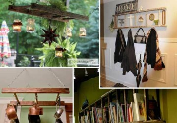 DIY Home Decor: 17 Amazing Wooden Ladder Repurposing Ideas - Wooden Ladder Repurposing, Wooden Ladder, Repurposing, DIY Repurposing