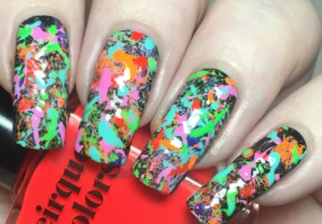 Color Explosions On Your Nails: 14 Creative Nail Art Ideas - summer nail art, neon summer nail art, colorful nail art