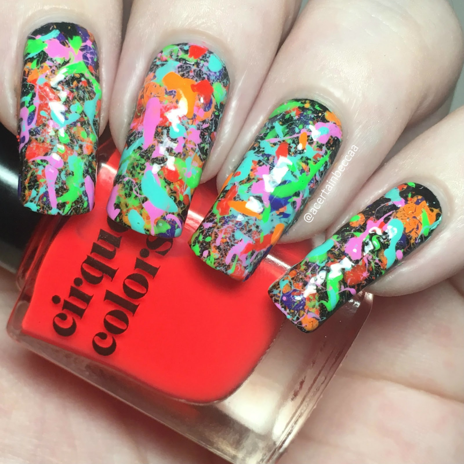 Creative Nail Art: Color Explosions On Your Nails: 14 Creative Nail Art Ideas
