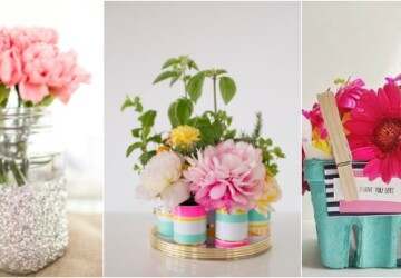 Floral Arrangement: 15 Beautiful DIY Decoration Ideas Perfect for Summer (Part 1) - floral decor, floral arrangement, floral, diy flower pot