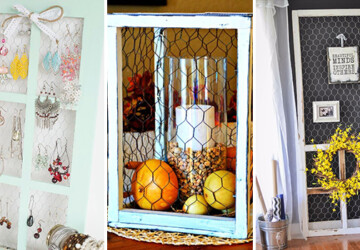15 Awesome DIY Ways To Make Chicken Wire A Part Of Your Decor - wire, rustic, handmade, handcrafted, Farmhouse, diy, decorations, decor, crafts, crafting, country, chicken wire, chicken
