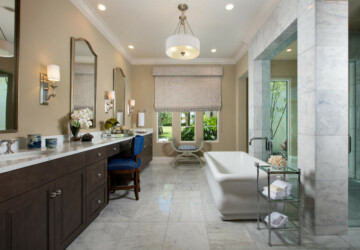 16 Elegant Mediterranean Bathroom Interiors You'll Want In Your Home - ornamental, Mediterranean, luxury, interior, Elegant, elegance, bathroom, bath
