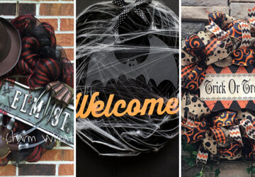 16 Spooky Handmade Halloween Wreath Ideas For Your Door - wreath, witch, spooky, spider, skeleton, scary, nightmare, handmade halloween wreath, Halloween wreath, halloween, ghost, elm street, deco mesh, burlap