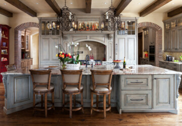 18 Remarkable Mediterranean Kitchen Designs You Will Love - traditional, Spanish, Mediterranean kitchen, Mediterranean, luxury, Luxurious, kitchen, Italian, interior, French, Elegant, country
