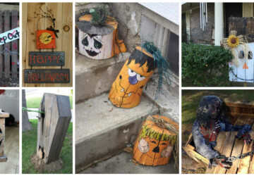 15 Spooky DIY Wood Halloween Decorations for Your Outdoor Space - Halloween outdoor, DIY Wood Halloween Decorations, diy outdoor, diy Halloween decorations, diy Halloween