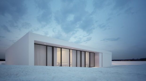 Moomoo Architects Blend The Reykjavik House In With The Snowy Icelandic Environment