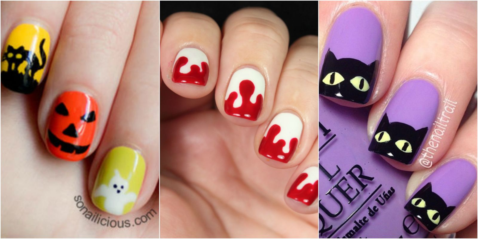 Nail Art Ideas: 15 Creative Spooky Halloween Nail Art Ideas