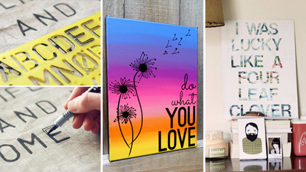 16 Creative Diy Canvas Paintings You Can Easily Add To Your