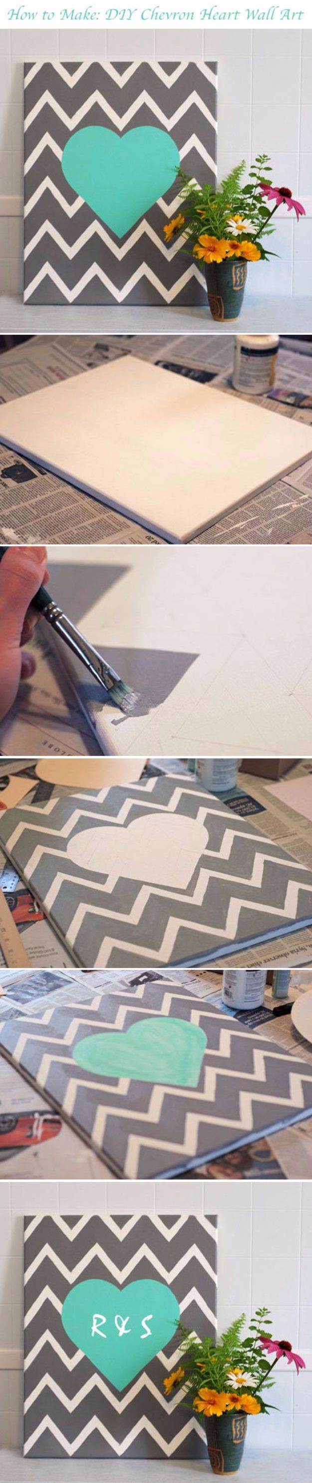 16 Creative DIY Canvas Paintings You Can Easily Add To Your Decor