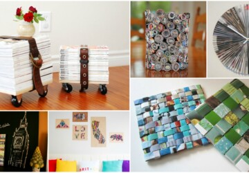 DIY Project: 15 Creative Ways to Repurpose Old Magazines - Upcycle and Repurpose, Repurpose Old Magazines, Repurpose, How to Repurpose Old Doors, diy Repurpose Old Magazines, diy project