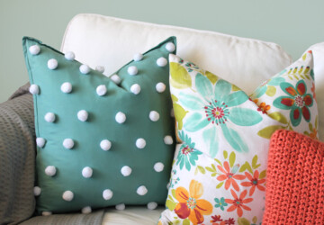 Home Decor: 16 Easy and Creative DIY Pillow Projects - pillowcase, pillow cover, diy pillows, diy pillow, diy home decor
