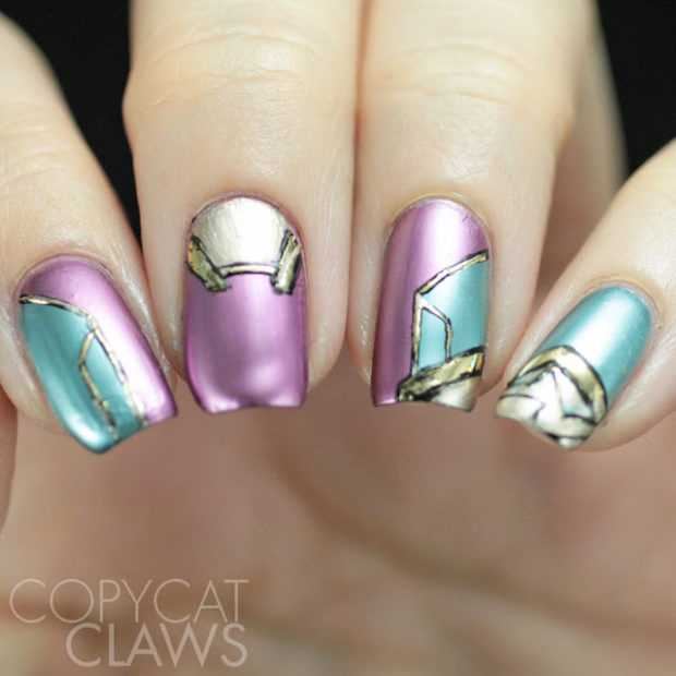 20 Unique Futuristic Nail Art Ideas