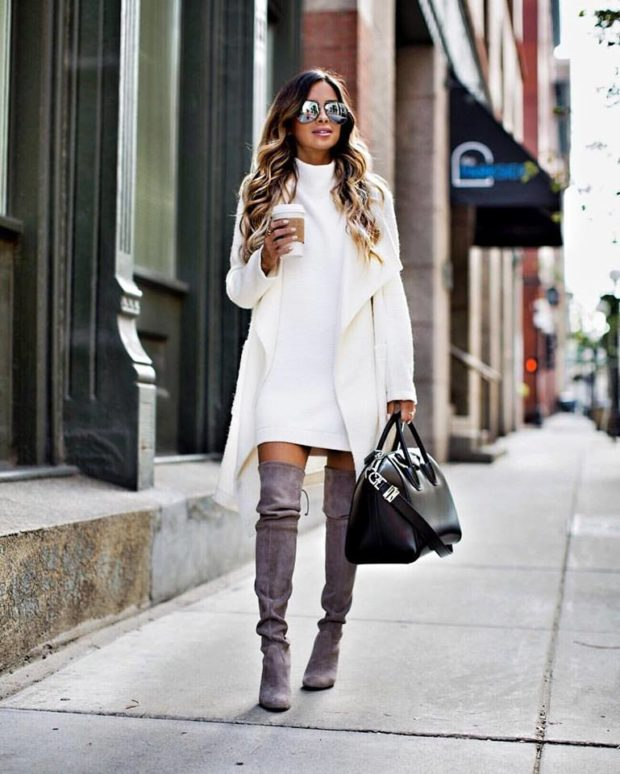 15 Ways to Wear a Sweater Dress