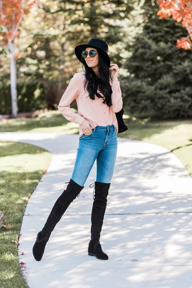 16 Ideas How to Wear Over the Knee Boots And Look Stylish