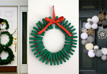 15 Festive Christmas Wreaths You Can Easily DIY - Diy Christmas Wreath, Diy Christmas ornaments, diy christmas decor projects, diy christmas decor, Diy Christmas