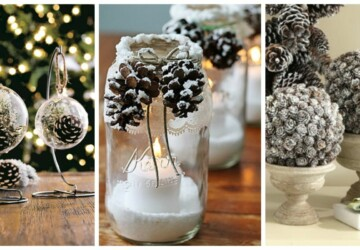 15 Rustic DIY Pinecone Home Decor Projects - Pinecone Decorations, DIY Rustic Projects, DIY Pinecone Decorations, DIY Pinecone, DIY pine cone