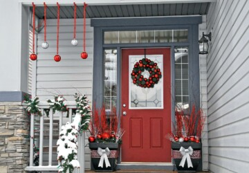 14 Rustic DIY Christmas Decor Ideas for Front Porch - Rustic DIY Christmas Decor Ideas for Front Porch, Rustic DIY Christmas Decor Ideas, Rustic DIY Christmas Decor, outdoor decor, diy christmas decor projects, diy christmas decor