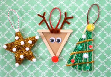15 Easy and Fun DIY Christmas Ornaments Kids Can Make - DIY Christmas Ornaments Kids Can Make, Diy Christmas ornaments, Diy Christmas, Christmas ornaments