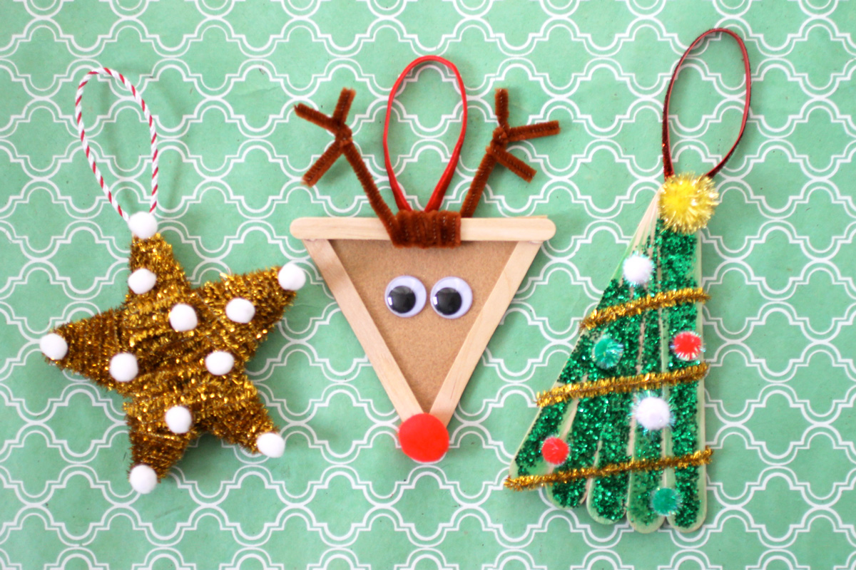 15 Easy And Fun Diy Christmas Ornaments Kids Can Make Style Motivation