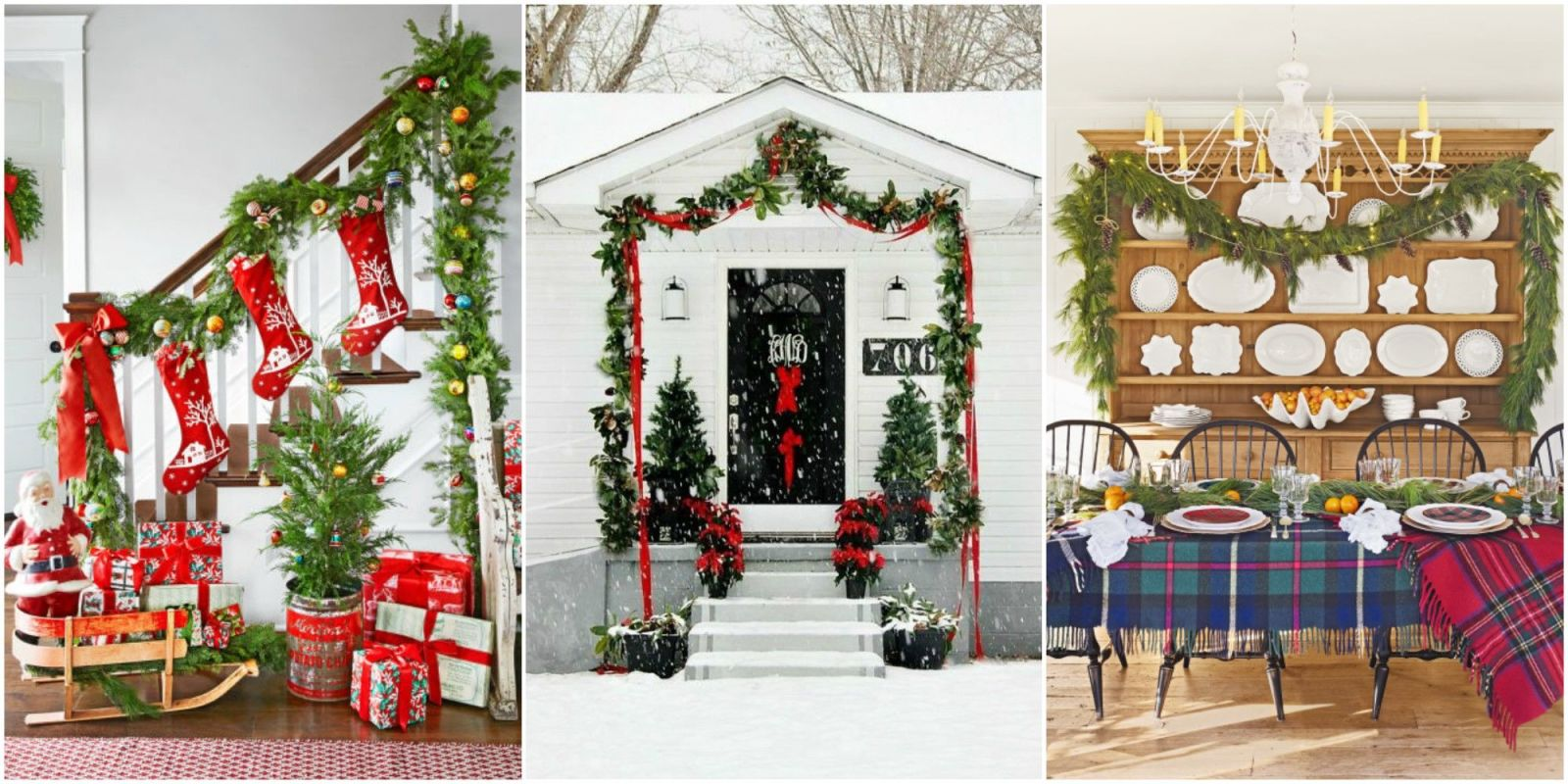 16 best diy christmas garland decorating ideas style for Christmas house decorations