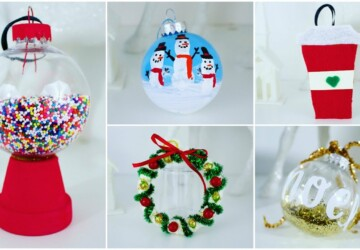 16 Creative and Easy DIY Christmas  Ornament Ideas - DIY Crochet Christmas Ornaments, DIY Christmas Ornaments Kids Can Make, Diy Christmas ornaments, Christmas Tree Ornaments, Christmas ornaments