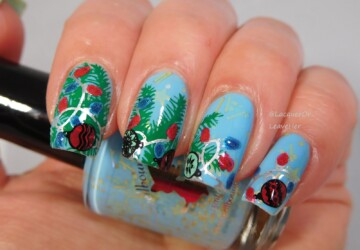 14 Festive Christmas Nail Art Ideas (Part 2) - diy Christmas nails, Christmas nails, Christmas nail design