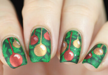 14 Festive Christmas Nail Art Ideas (Part 1) - diy Christmas nails, Christmas nails, Christmas nail design