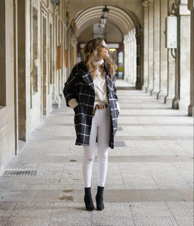 17 White Sweater Winter Outfit Ideas
