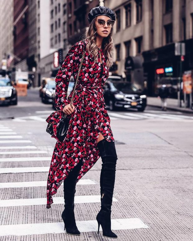 How to Style a Dress and Stay Warm During Winter