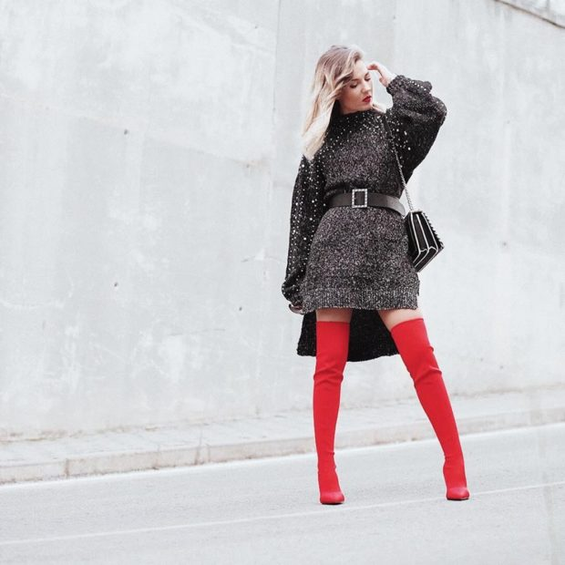 17 Casual Dress Outfit Ideas for Winter Days