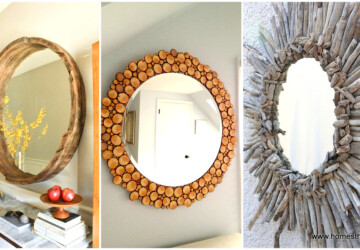 DIY Home Decor Project Ideas:14 Creative Mirrors to Make - DIY mirrors, diy mirror, DIY Home Decor Projects, diy home decor