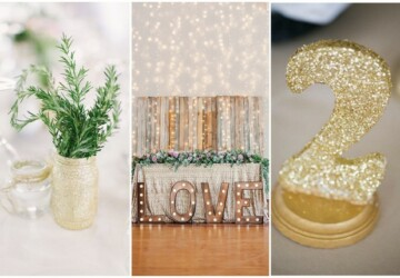 Glam Wedding Decor: 14 DIY Glitter Wedding Ideas - wedding decor, Glitter Wedding Ideas, glitter, glam wedding, DIY Wedding Favors, diy wedding decorations, DIY Glitter Wedding Ideas