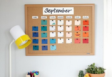 17 DIY Calendar Ideas To Start The New Year Organized - diy organization projects, DIY Organization Ideas, diy organization hacks, DIY Calendar