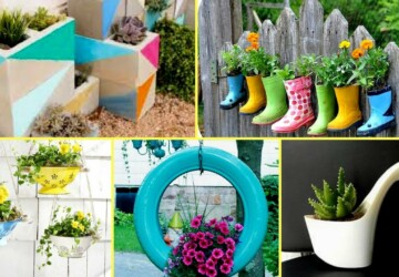 14 Creative DIY Planter Ideas to Make Your Garden Wonderful - DIY Planters, DIY Planter Ideas, DIY planter, diy garden projects, DIY Flower Pot Ideas, diy flower pot