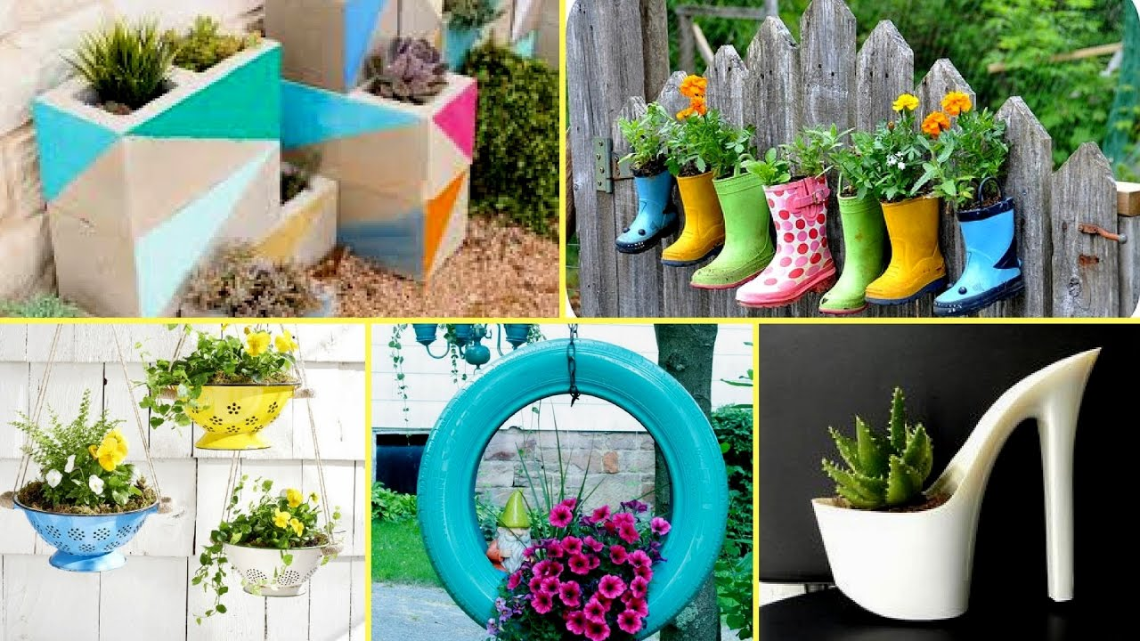 14 creative diy planter ideas to make your garden - Better homes and gardens flower pots ...