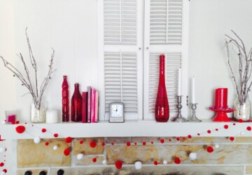 Valentine's Day Mantel Decorations and Ideas - Valentine's Day Mantel decor ideas, Valentine's Day Mantel decor, Valentine's Day Mantel, mantel decoration, diy Valentine's day home decor