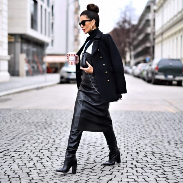16 Ideas How To Style A Midi Skirt For Winter