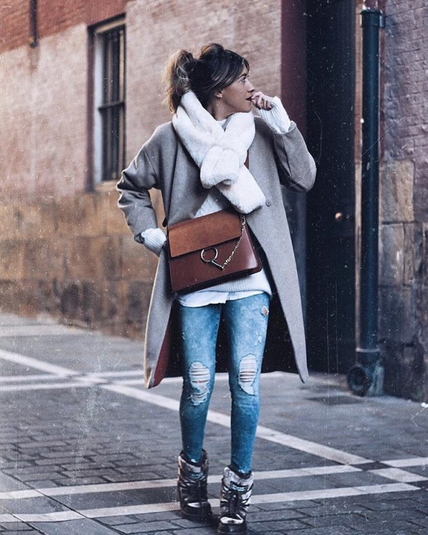 18 Casual Winter Outfit Ideas with Jeans