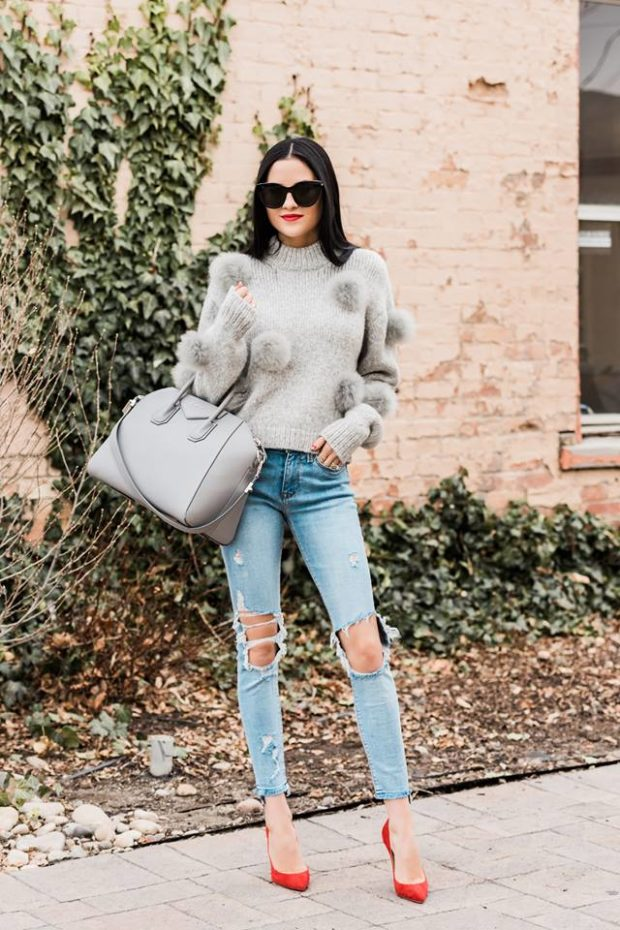 17 Stylish Pumps Outfit Ideas for Cold Days