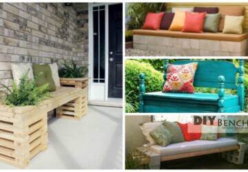 DIY Garden Projects: 14 Outdoor Bench Ideas You Can Build It Yourself - diy outdoor furniture, diy outdoor Bench Ideas, diy garden projects, DIY Garden Pallet Projects, diy garden Bench Ideas, diy garden, diy Bench Ideas, benches, Bench Ideas