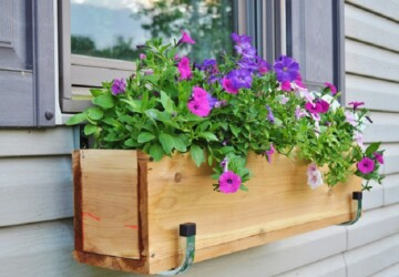 15 DIY Window Flower Box Planters - DIY Window Flower Box Planters, DIY Planters, DIY Flower Box Planters, DIY Flower Box, diy