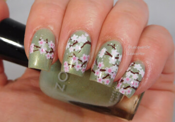 15 Stamping Nail Art Ideas Perfect for Spring - Stamping Nail Art Ideas Perfect for Spring, Stamping Nail Art Ideas, spring nail design, Spring Nail Art Ideas, spring nail art, Sparkly Crystal Stamping Nail Art Ideas