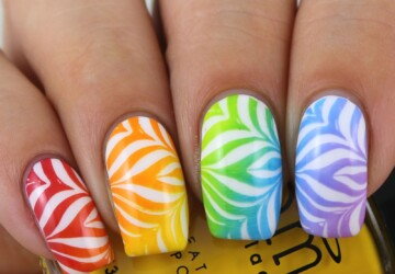 Rainbow Water Marble Nail Art Ideas - Water Marble nail design, Water Marble Nail Art Ideas, Water Marble nail art, Water Marble, Rainbow Water Marble Nail Art Ideas, Rainbow Nail Art Designs, Rainbow Nail Art