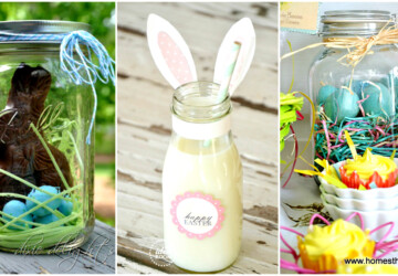 16 DIY Mason Jar Easter Projects - DIY Mason Jar Easter Projects, diy mason jar, DIY Easter Projects, diy Easter decorations