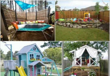 Great DIY Ideas for Outdoor Play Areas for Your Kids - DIY Outdoor Garden, diy outdoor furniture, diy outdoor, diy kids crafts, DIY Ideas for Outdoor Play Areas for Your Kids, DIY Ideas for Outdoor Play