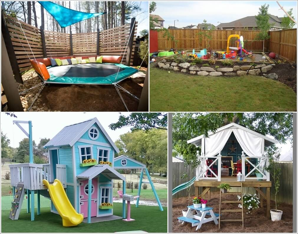 Great diy ideas for outdoor play areas for your kids for Play yard plans