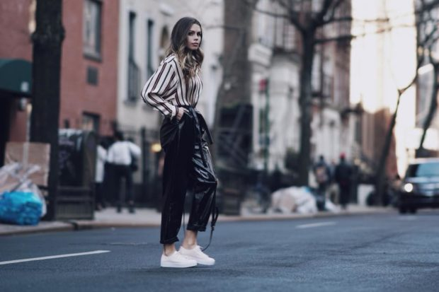 How To Style Sneakers for Spring: 16 Street Style Ideas